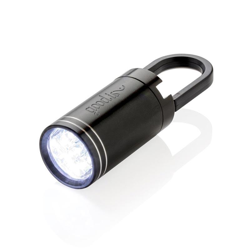 Lampe torche personnalisable LED Pull it - noir
