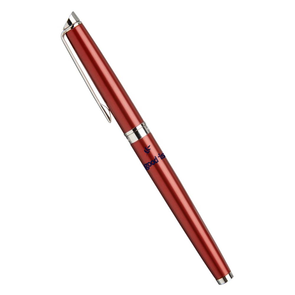 Cadeau publicitaire - Stylo plume publicitaire Hémisphère rouge