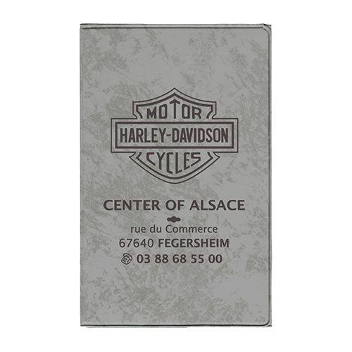Objet publicitaire voiture - Porte-carte grise publicitaire 4 volets