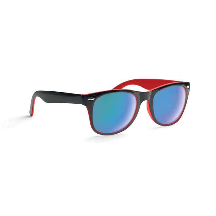 Lunettes de soleil publicitaires bicolores California - rouge