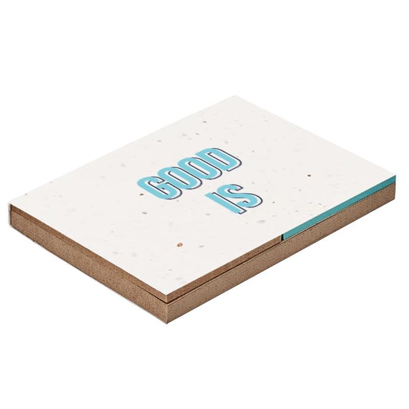 Bloc mémo personnalisable en papier recyclé et papier à graines Growme