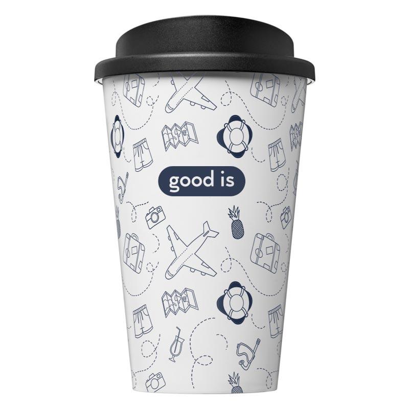 Mug isotherme publicitaire Brite-Americano® 350 ml - Cadeau publicitaire