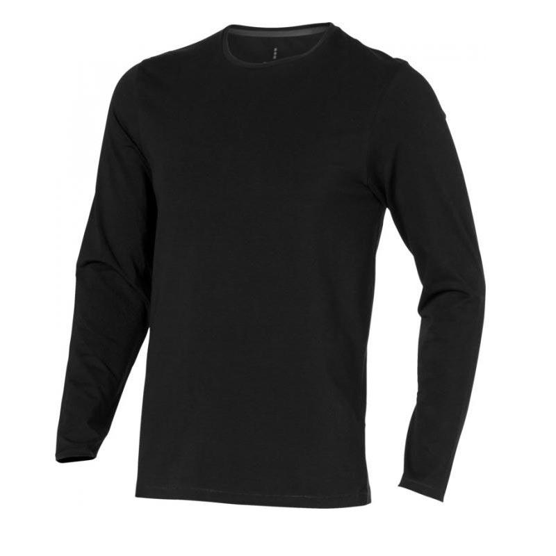 T-shirt bio publicitaire manches longues pour homme Ponoka  gris anthracite