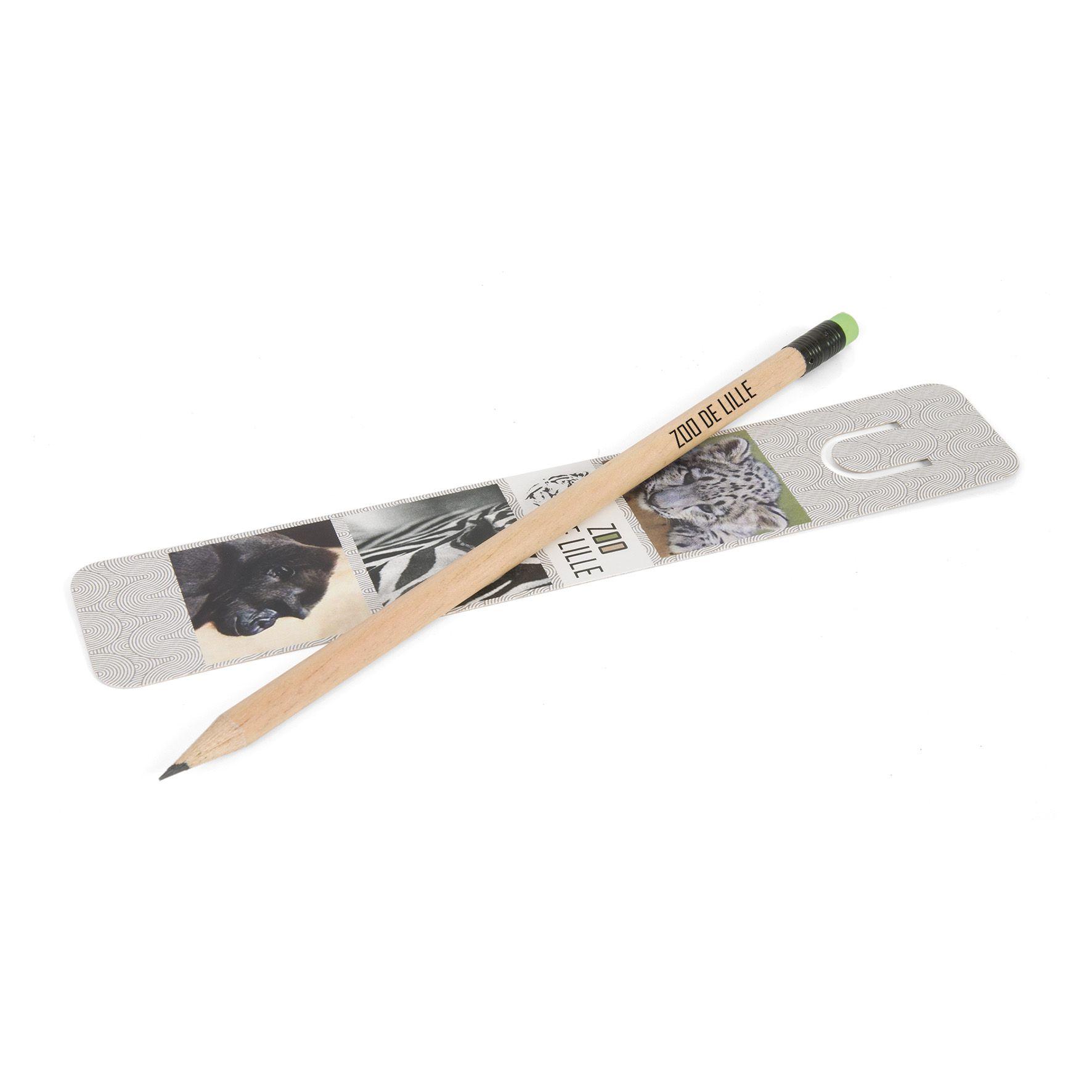 Set de papeterie écologique publicitaire Inco - crayon à papier incolore et marque -page quadri
