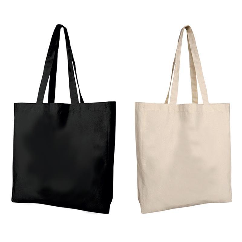 Tote bag publicitaire en coton Manali écru ou noir