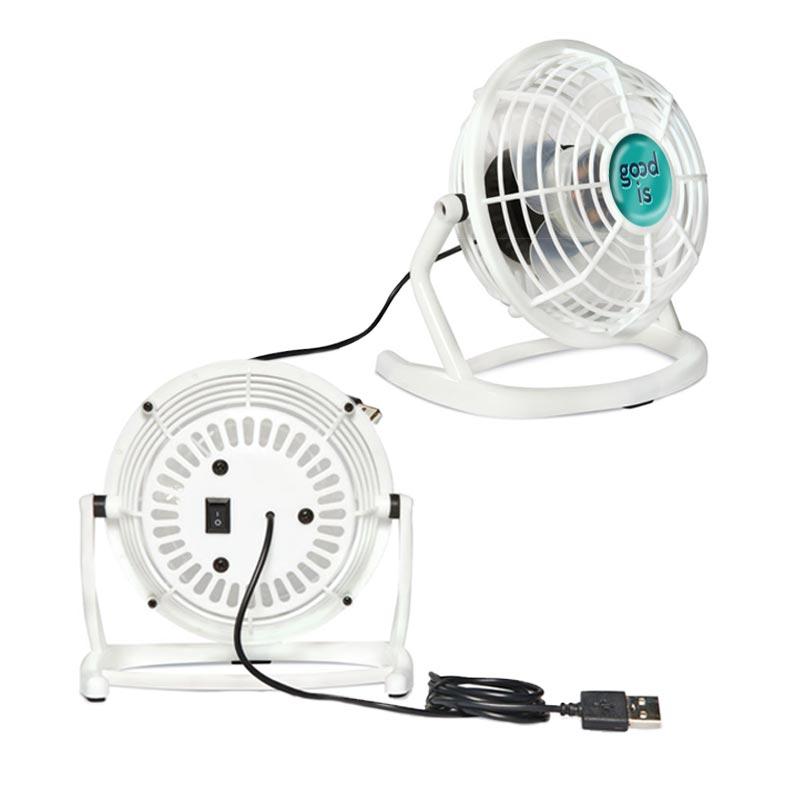 Ventilateur publicitaire en ABS Airy - Coloris blanc