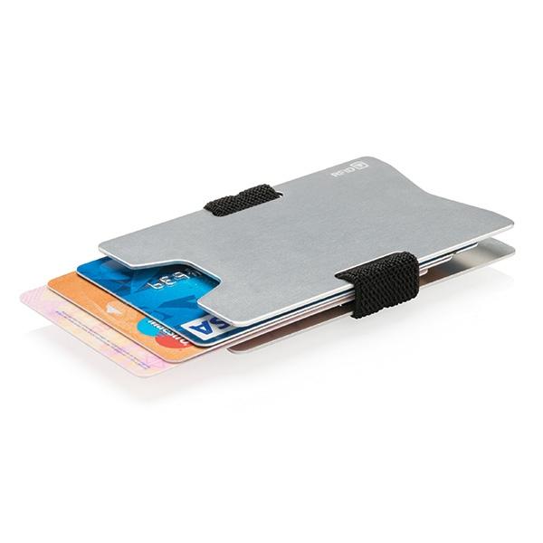 Porte-cartes publicitaire en aluminium Minimaliste RFID