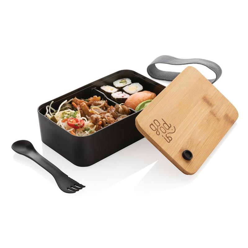 Mise en situation de la lunch box publicitaire Cuzco