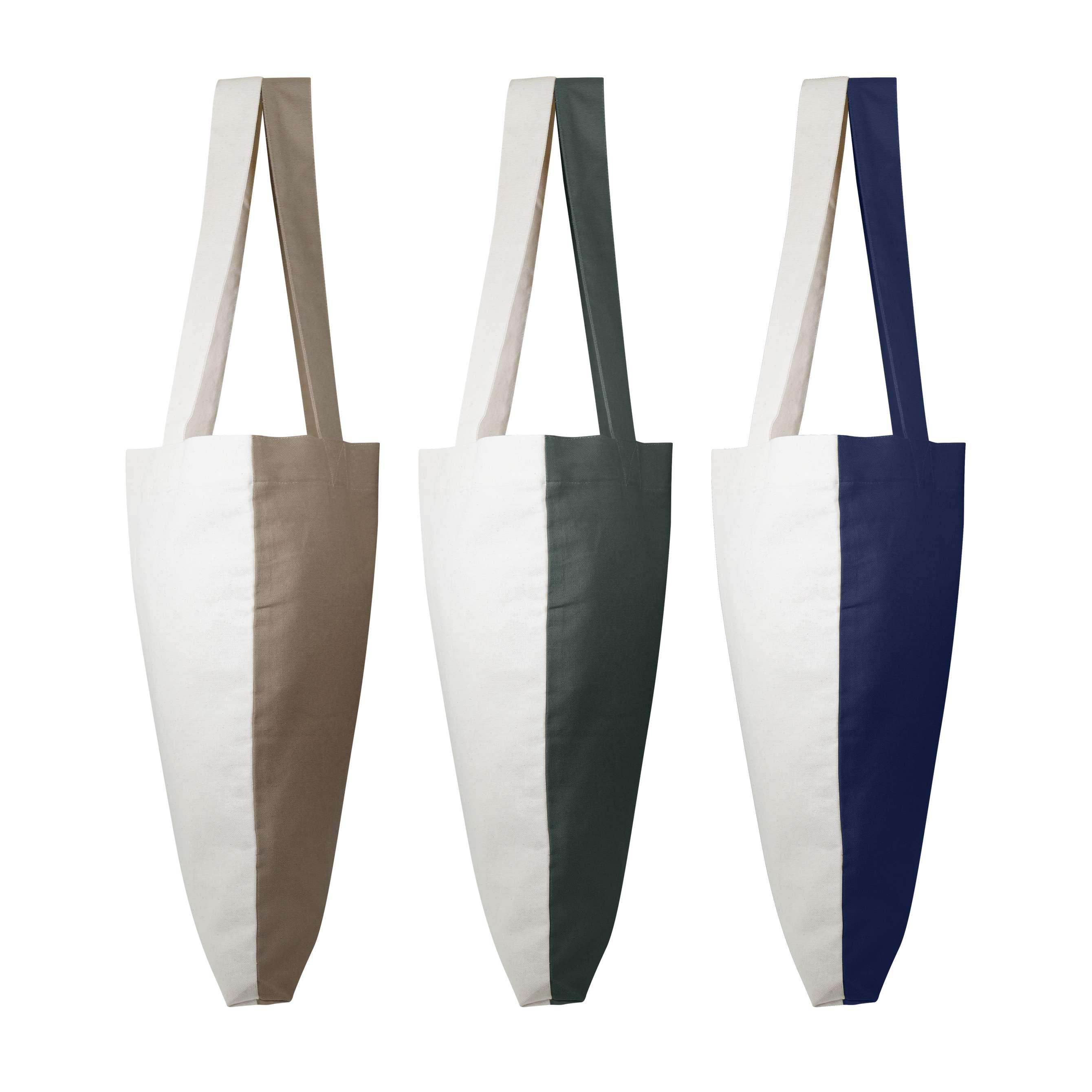 Sac shopping personnalisé écologique Visversa naturel/gris vert - tote-bag personnalisable