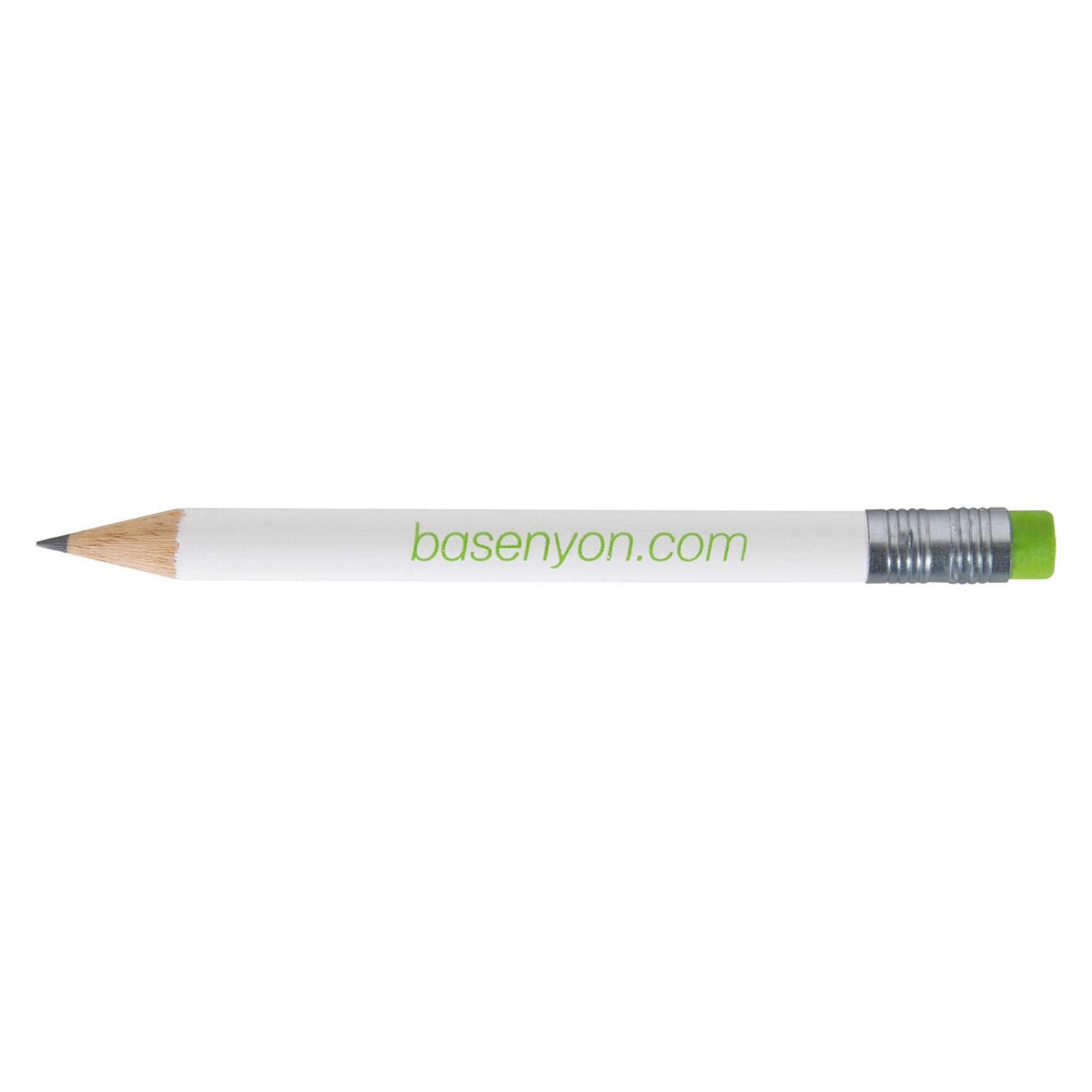 goodies entreprise personnalisé - mini crayon à papier personnalisé écolo Pantone gomme Luis