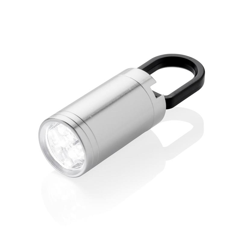 Lampe torche personnalisable LED Pull it - gris