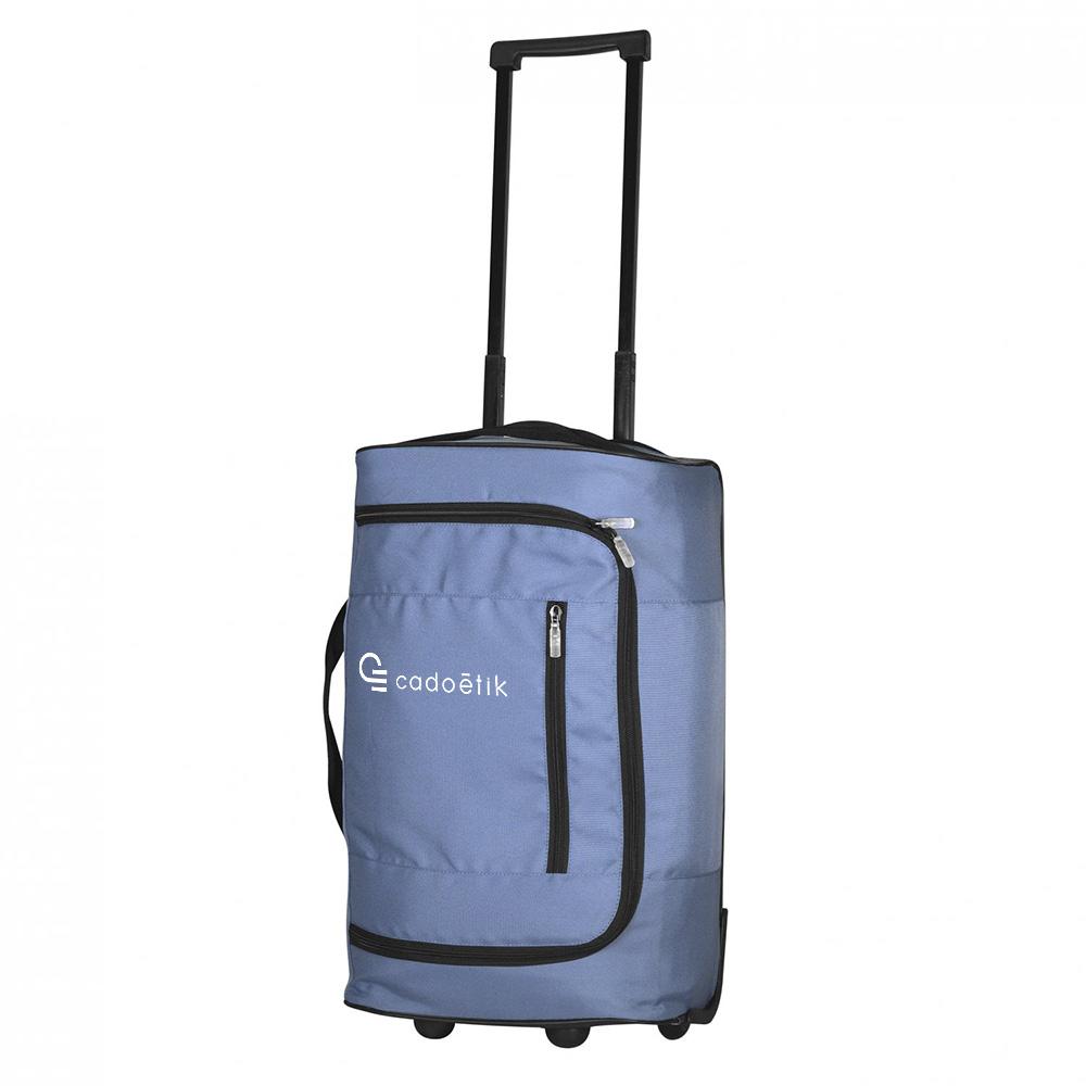 Valise cabine publicitaire Reborn bleue - Cadeau d'entreprise écologique