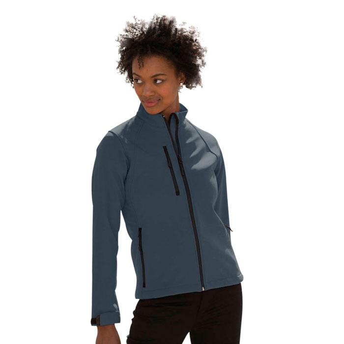 Textile personnalisé - Veste softshell personnalisable femme Aida 340 g/m²
