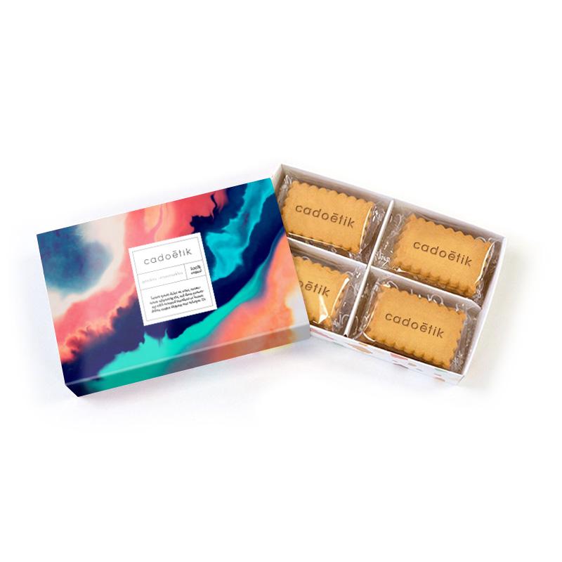 Coffret 24 biscuits personnalisés Shanty Biscuits - Cadeau d'affaires