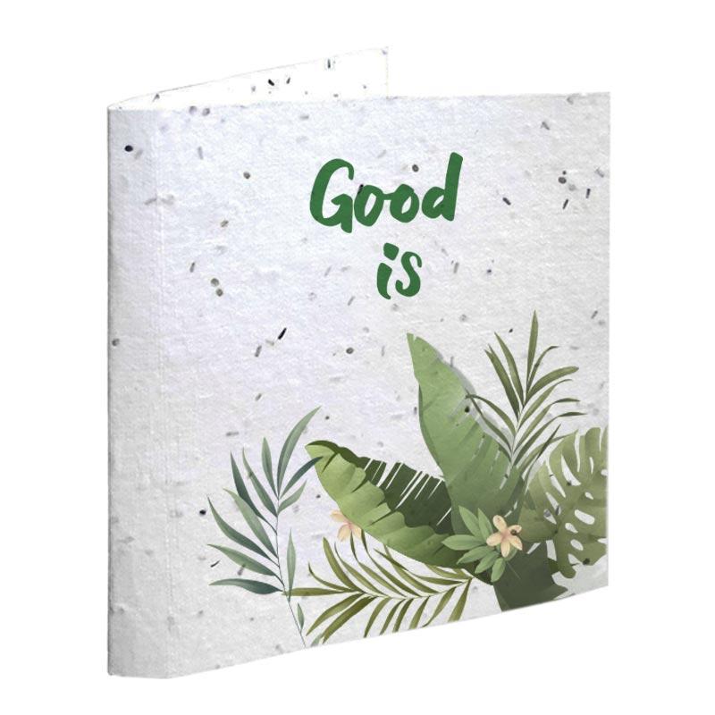 Cadeau d'entreprise végétal - Carte à planter publicitaire biodégradable