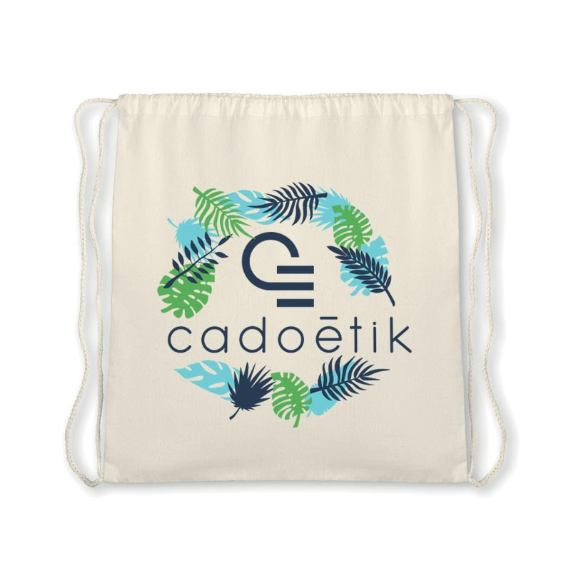 Gymbag publicitaire en coton bio Organic Hundred