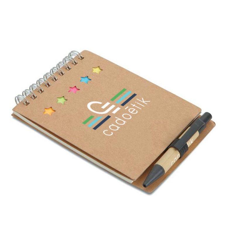 Bloc-notes publicitaire avec stylo et feuillets Multibook