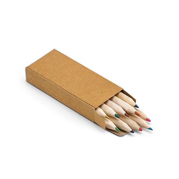 Boite de 10 crayons de couleur publicitaires écologiques Little Andy