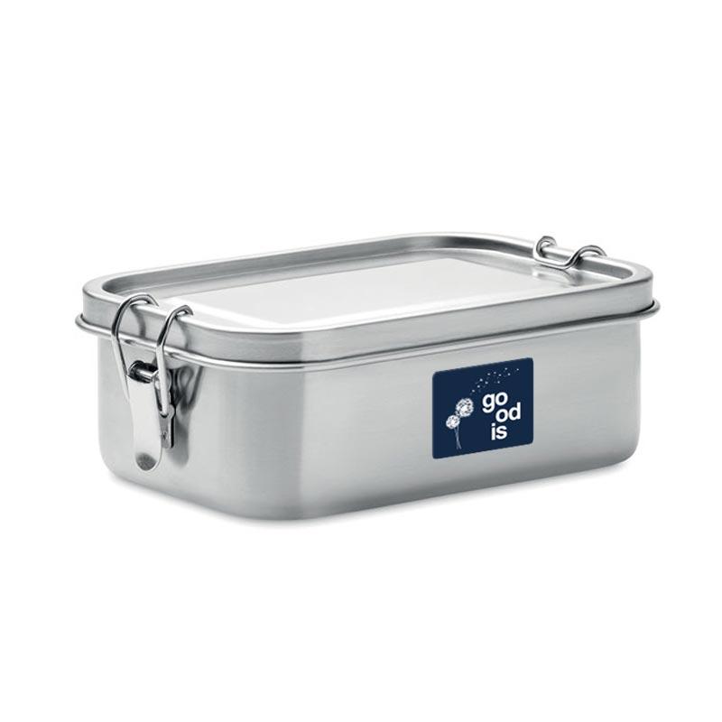 lunch box publicitaire en inox chan - cadeau entreprise durable