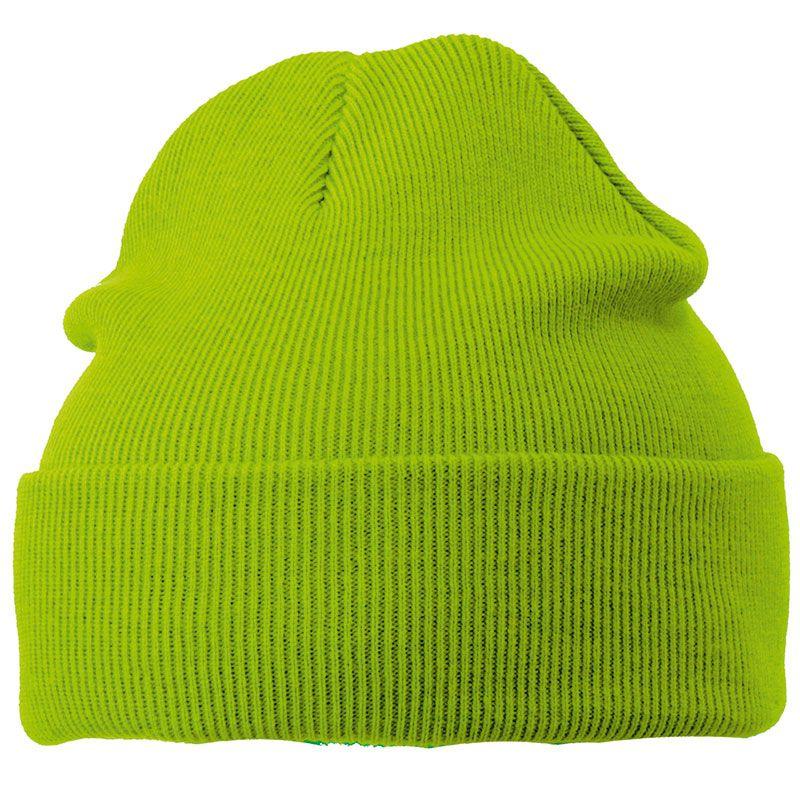 Cadeau publicitaire hiver - Bonnet publicitaire tricot à revers Snow - orange
