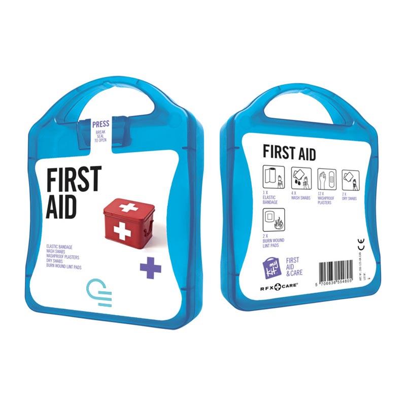 MyKit Premier secours - Objet publicitaire santé - Coloris bleu