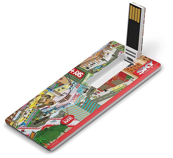 Clé USB 1 Go Carte Skinny -  Objet promotionnel