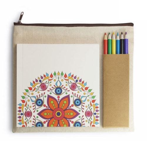 Set coloriage publicitaire MANDALA - Cadeau publicitaire bien-être