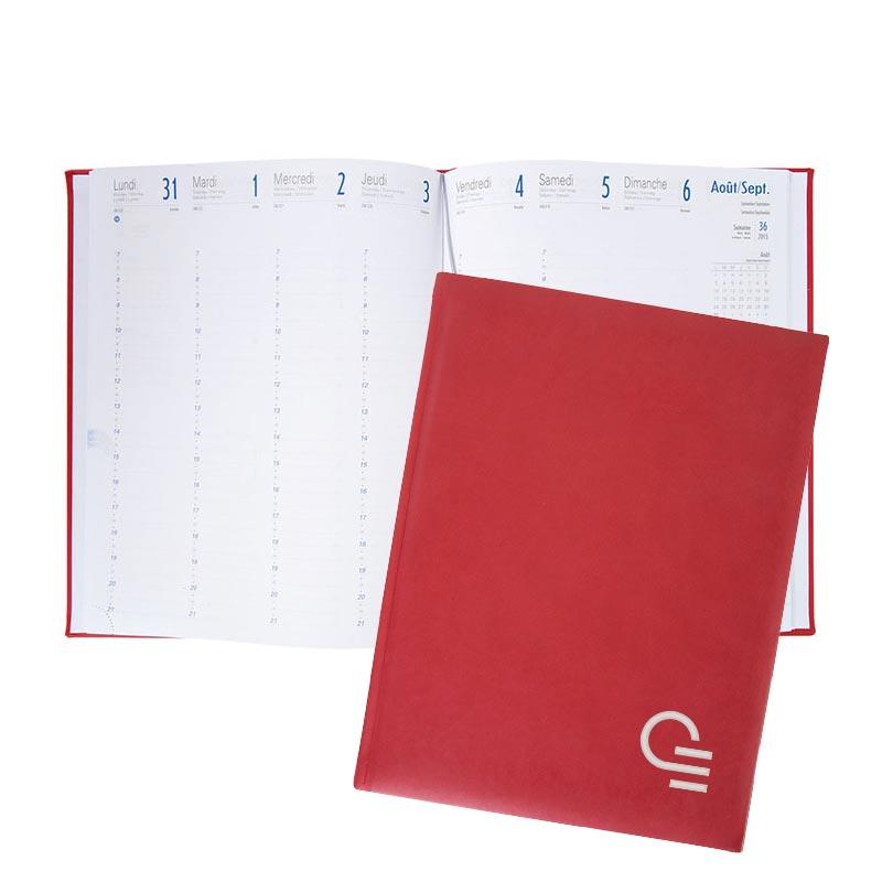 Agenda publicitaire A4 French -Coloris rouge