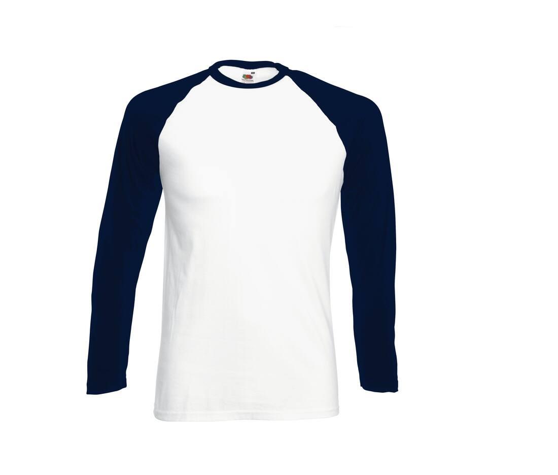 T-shirt publicitaire manches longues en coton Baseball 1