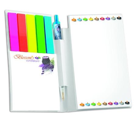 Carnet et stylo BIC - Bloc-notes mémo personnalisable