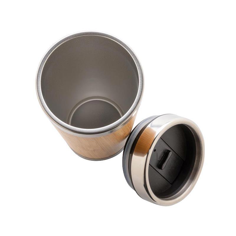 Cadeau d'entreprise convivial - Mug isotherme en bambou Tumbo