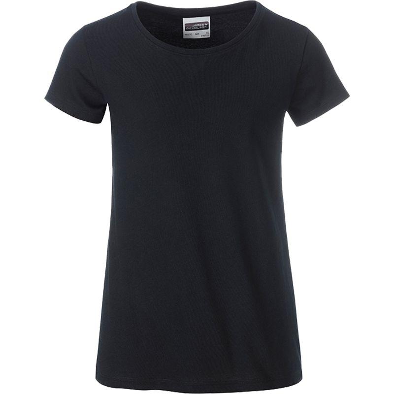 T-shirt personnalisé bio Enfant Kim - Tee-shirt publicitaire biologique noir