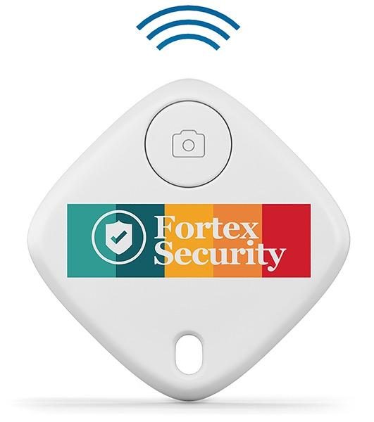 Traceur de clés publicitaire SmartFinder Home - blanc