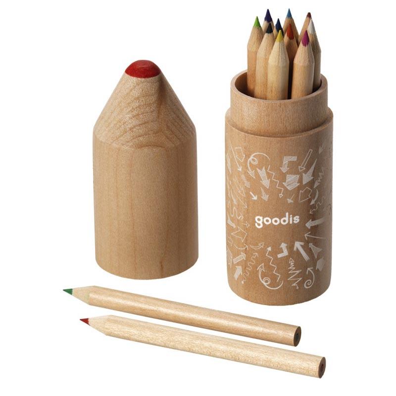 Set de 12 crayons de couleur publicitaires avec logo
