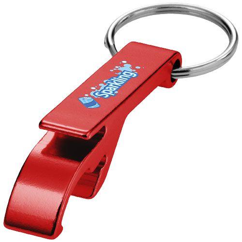 Cadeau publicitaire - Porte-clés personnalisable ouvre-bouteille et canette Tao