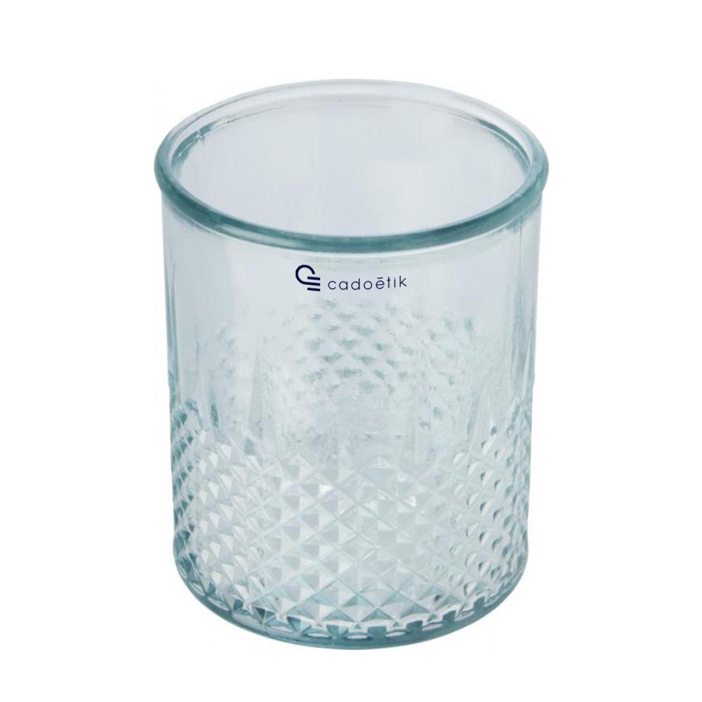 Bougeoir publicitaire en verre recyclé Estrel 1