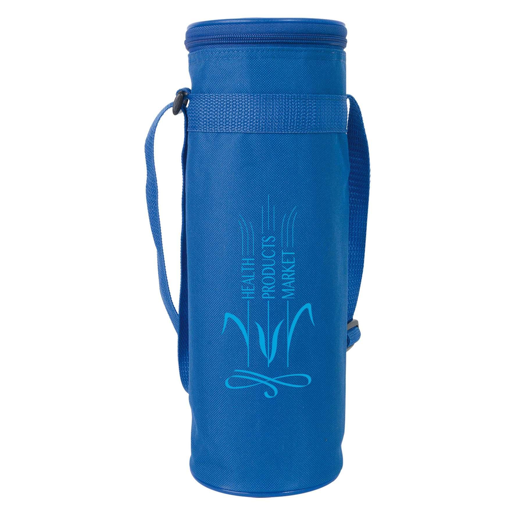 Cadeau promotionnel - Sac isotherme pour bouteille 1,5 l - bleu