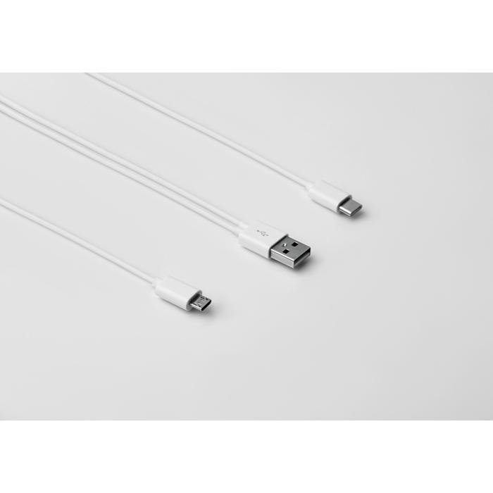 Objet publicitaire - Câble A-B-C dans une boîte Connecti et support