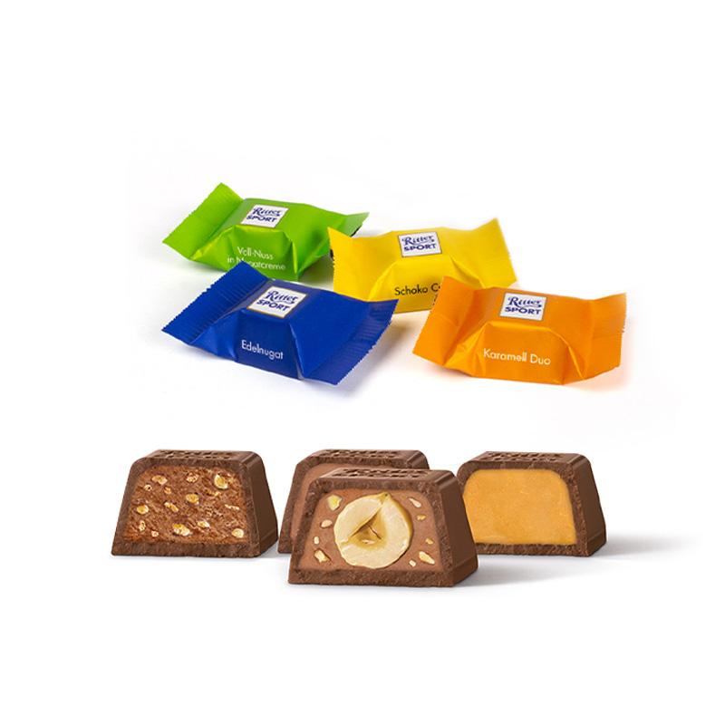 Calendrier de l'Avent publicitaire Cube - Variétés chocolats