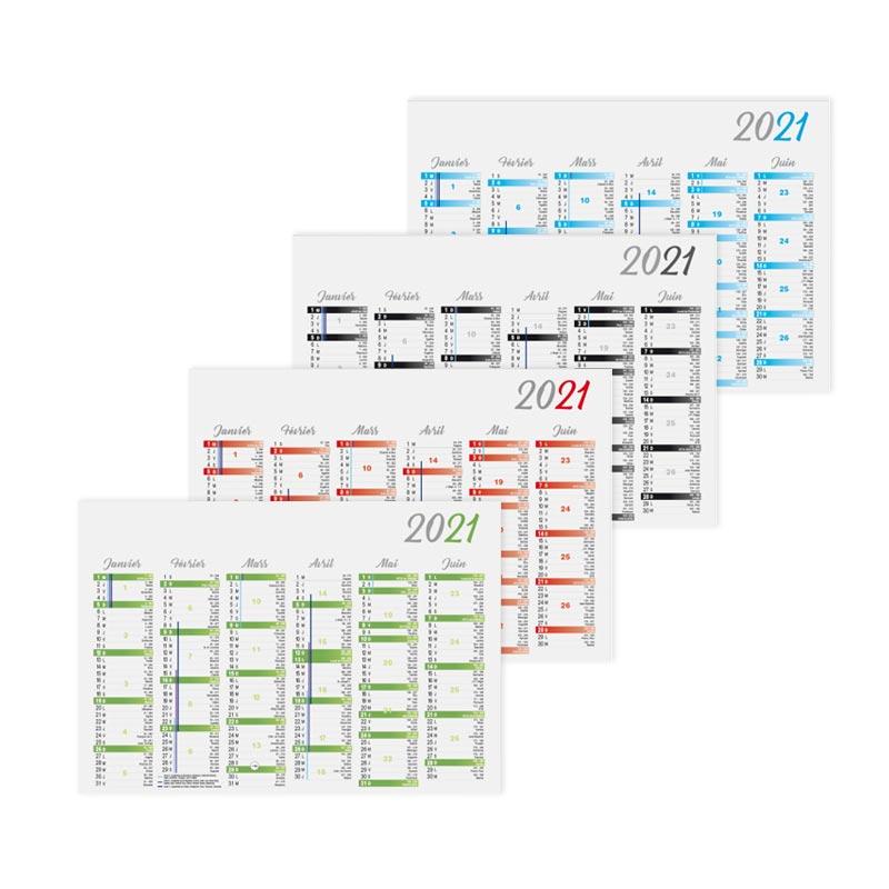 Calendrier personnalisable bancaire Cartonné Standard 2021