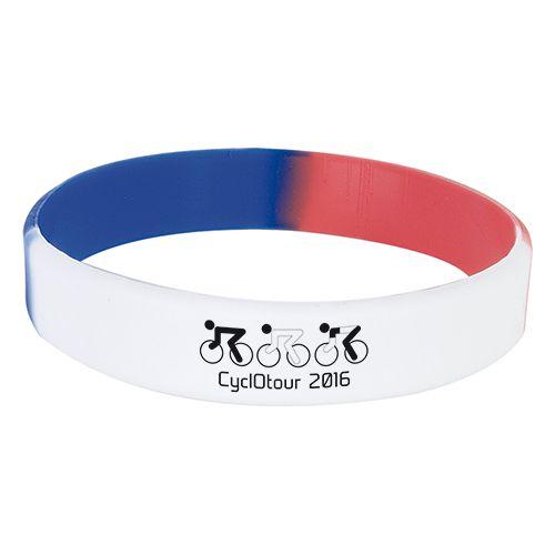 Bracelet tricolore publicitaire Riga - goodies sport