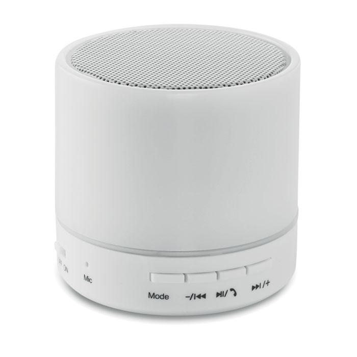 haut-parleur publicitaire rond avec LED Round White