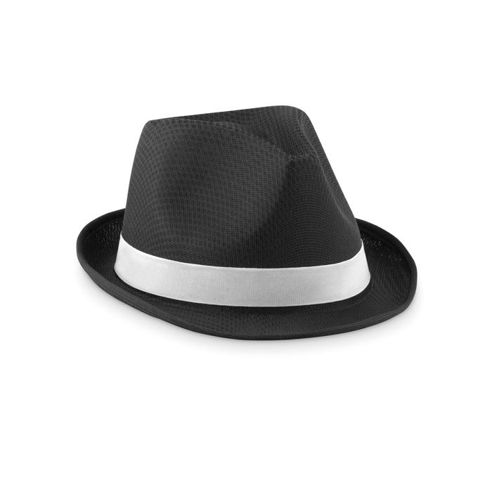 Chapeau personnalisé Woogie - Chapeau publicitaire coloré noir