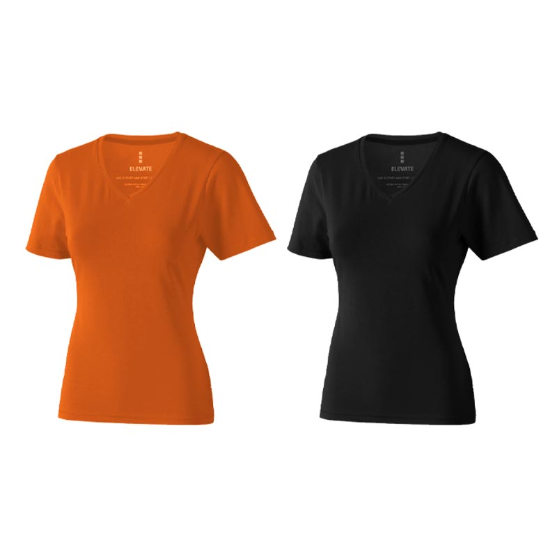 T-shirt bio personnalisé manches courtes pour femmes Kawartha - bleu