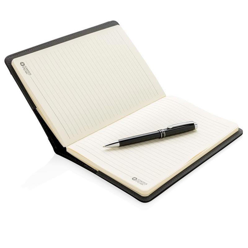 Set carnet publicitaire  A5 et stylo Swiss Peak - cadeau d'entreprise