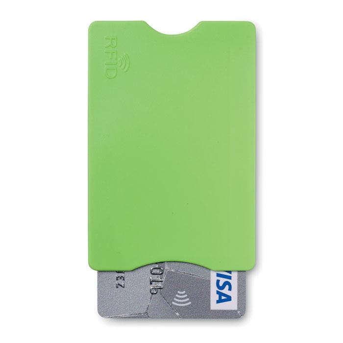 Porte-carte de crédit publicitaire Protector vert - Goodies entreprise