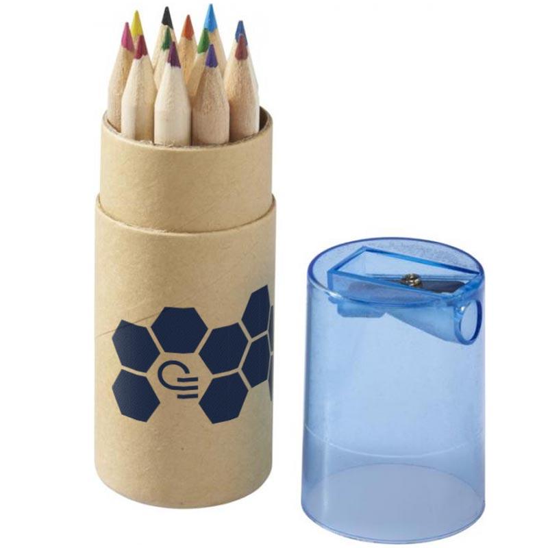 Set de 12 crayons de couleur publicitaires Joan