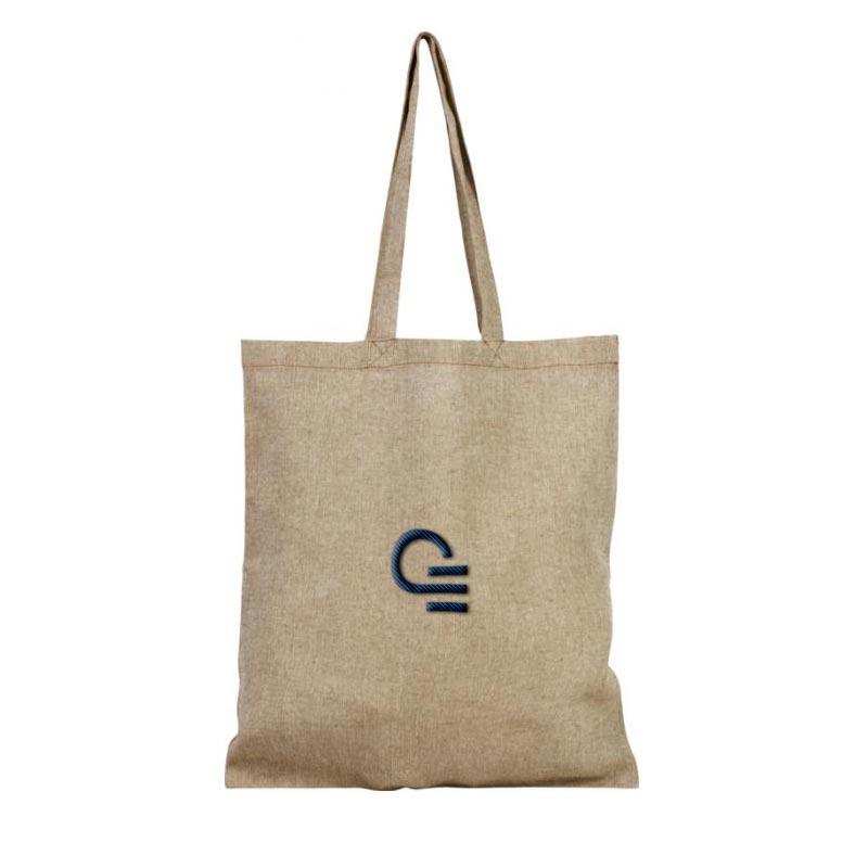 tote bag publicitaire en coton recyclé recyclo