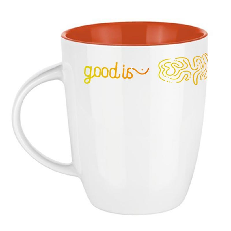 Mug publicitaire Pics Elite Inside 250mL - Coloris orange