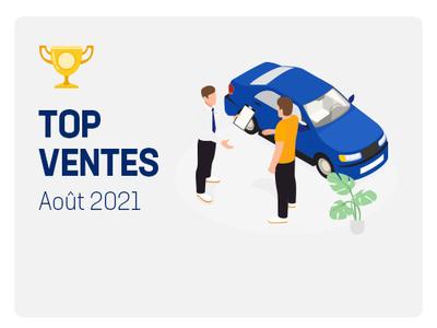 Top ventes automobile aout 2021